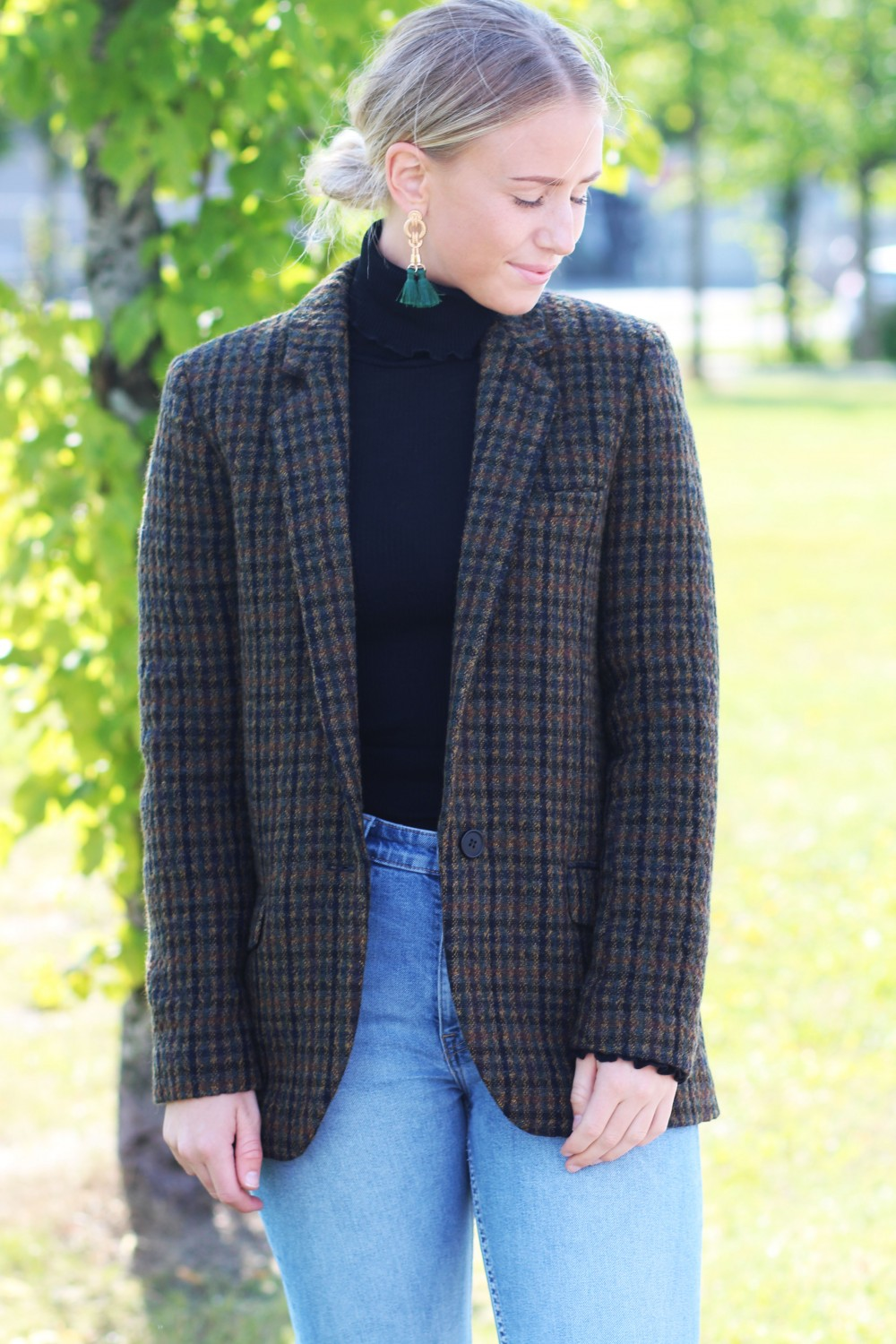 Stella Nova Autumn Checked Blazer