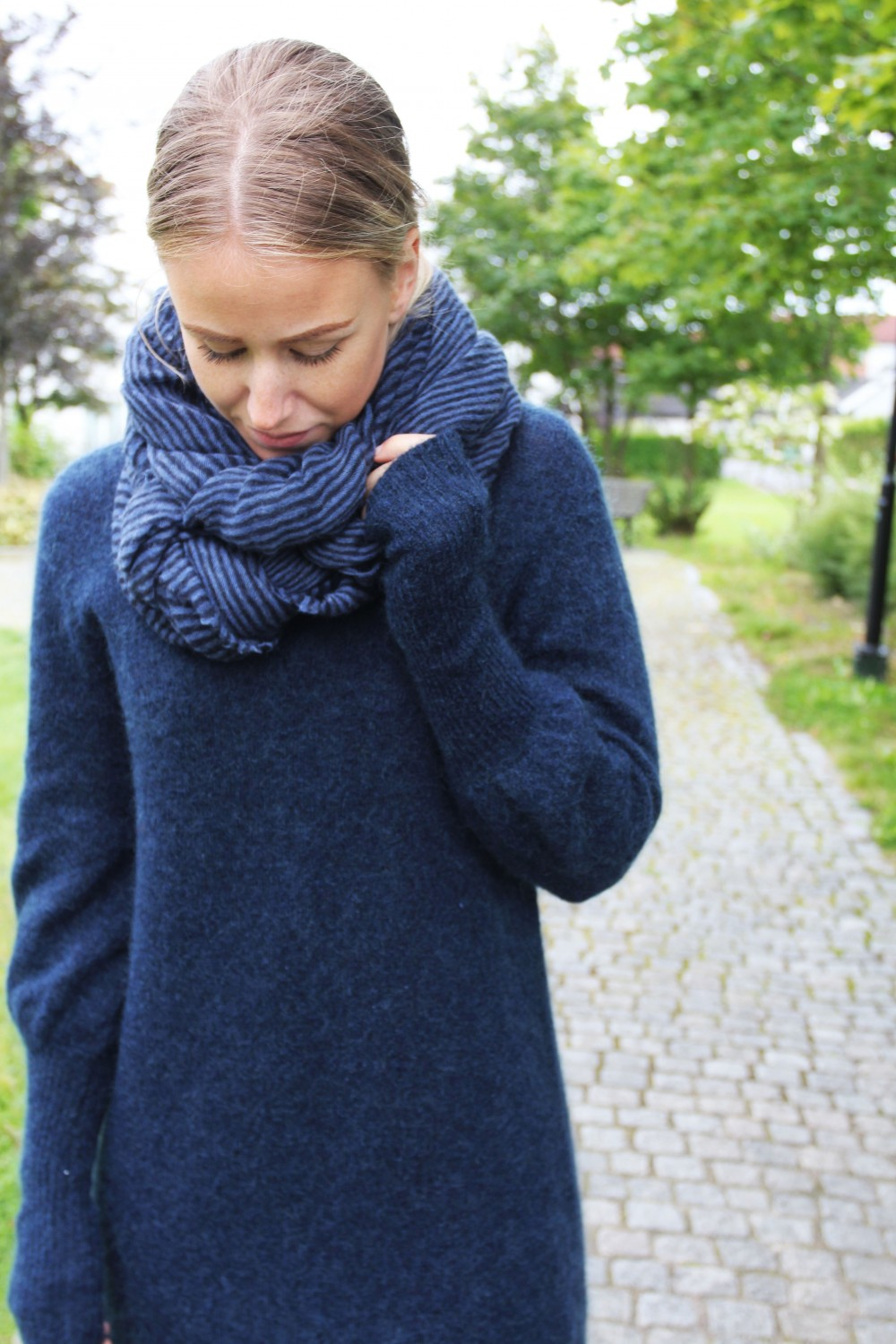 NATURA Cashmere Luxury Striped Blue/Navy