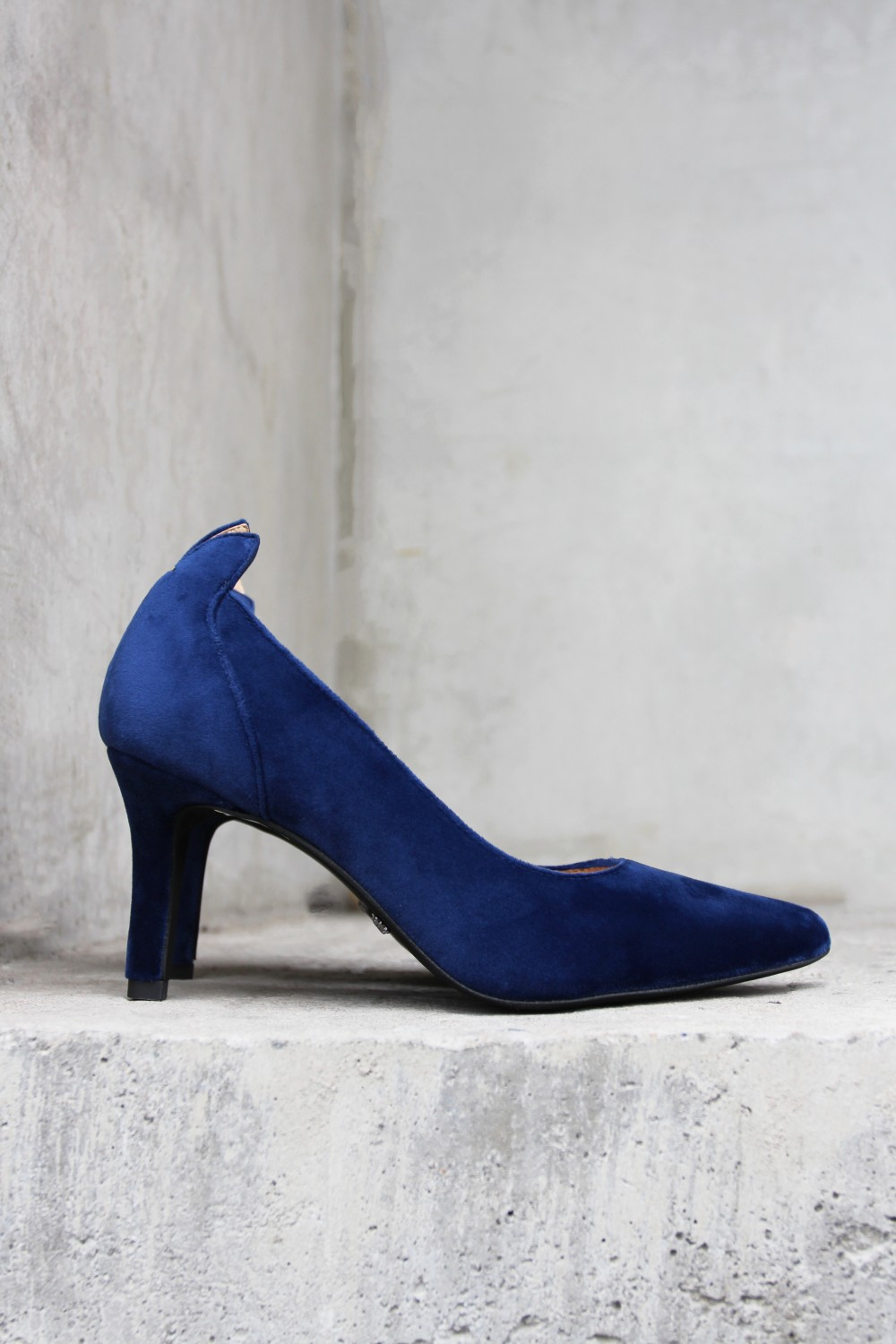 Front Society Shoes Velvet Dark Blue